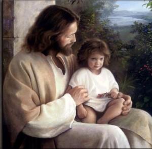 jésus et un petit